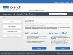 Find profiles fast with the Roland Profile Center